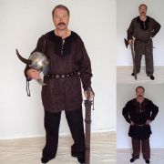 Medieval/Viking Faux Suede Costume Set